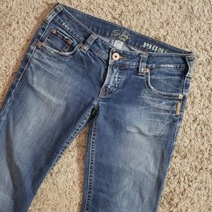 SILVER DISTRESSED PIONEER JEANS SZ 31